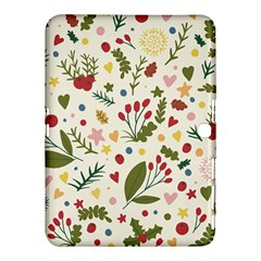 Floral Christmas Pattern  Samsung Galaxy Tab 4 (10 1 ) Hardshell Case  by Valentinaart