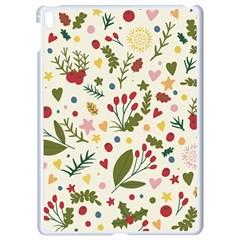 Floral Christmas Pattern  Apple Ipad Pro 9 7   White Seamless Case