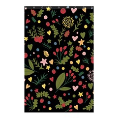 Floral Christmas Pattern  Shower Curtain 48  X 72  (small)  by Valentinaart