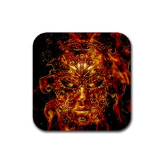 Vulcano Poster Artwork Rubber Coaster (square)  by dflcprintsclothing