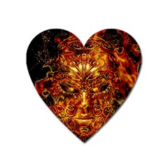 Vulcano Poster Artwork Heart Magnet by dflcprintsclothing