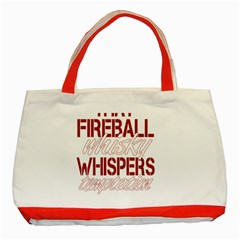 Fireball Whiskey Shirt Solid Letters 2016 Classic Tote Bag (red) by crcustomgifts