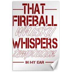 Fireball Whiskey Shirt Solid Letters 2016 Canvas 24  X 36