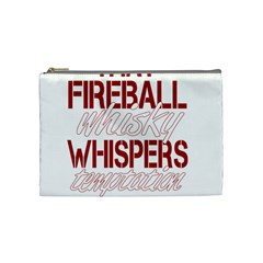 Fireball Whiskey Shirt Solid Letters 2016 Cosmetic Bag (medium) by crcustomgifts