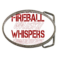 Fireball Whiskey Shirt Solid Letters 2016 Belt Buckles by crcustomgifts