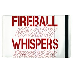 Fireball Whiskey Shirt Solid Letters 2016 Apple Ipad Pro 9 7   Flip Case