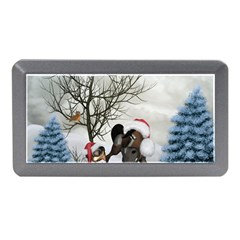 Christmas, Cute Bird With Horse Memory Card Reader (mini) by FantasyWorld7