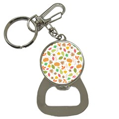 Thanksgiving Pattern Bottle Opener Key Chains by Valentinaart