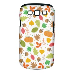 Thanksgiving Pattern Samsung Galaxy S Iii Classic Hardshell Case (pc+silicone) by Valentinaart