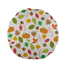 Thanksgiving Pattern Standard 15  Premium Round Cushions by Valentinaart