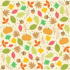 Thanksgiving Pattern Magic Photo Cube by Valentinaart