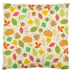 Thanksgiving Pattern Large Flano Cushion Case (one Side) by Valentinaart
