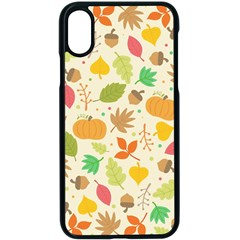 Thanksgiving Pattern Apple Iphone X Seamless Case (black)