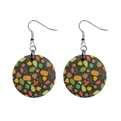 Thanksgiving Pattern Mini Button Earrings by Valentinaart