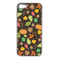 Thanksgiving Pattern Apple Iphone 5 Case (silver) by Valentinaart