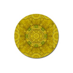 Sunshine Feathers And Fauna Ornate Magnet 3  (round) by pepitasart