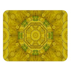 Sunshine Feathers And Fauna Ornate Double Sided Flano Blanket (large)  by pepitasart