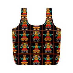 Egyptian Full Print Recycle Bag (m) by ArtworkByPatrick