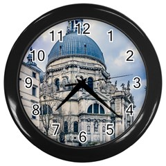 Santa Maria Della Salute Church, Venice, Italy Wall Clock (black)