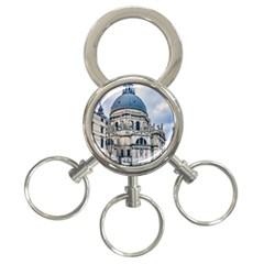 Santa Maria Della Salute Church, Venice, Italy 3 Ring Key Chains