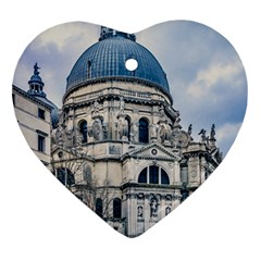 Santa Maria Della Salute Church, Venice, Italy Heart Ornament (two Sides) by dflcprintsclothing