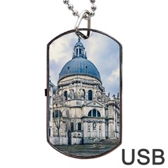 Santa Maria Della Salute Church, Venice, Italy Dog Tag Usb Flash (one Side) by dflcprintsclothing