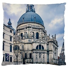 Santa Maria Della Salute Church, Venice, Italy Standard Flano Cushion Case (one Side) by dflcprintsclothing