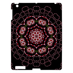 Fantasy Flowers Ornate And Polka Dots Landscape Apple Ipad 3/4 Hardshell Case by pepitasart