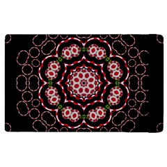 Fantasy Flowers Ornate And Polka Dots Landscape Apple Ipad 2 Flip Case by pepitasart
