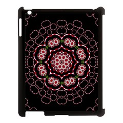Fantasy Flowers Ornate And Polka Dots Landscape Apple Ipad 3/4 Case (black) by pepitasart