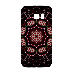 Fantasy Flowers Ornate And Polka Dots Landscape Samsung Galaxy S6 Edge Hardshell Case