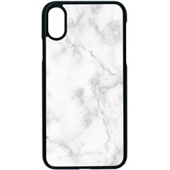 Marble Apple Iphone X Seamless Case (black)