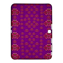 Seasonal Delight With Fantasy Flowers Samsung Galaxy Tab 4 (10 1 ) Hardshell Case  by pepitasart
