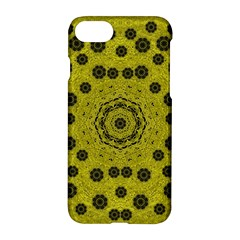Gold For Golden People And Flowers Apple Iphone 7 Hardshell Case by pepitasart