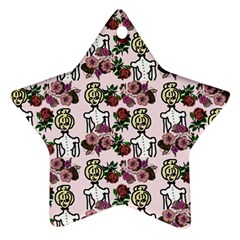Victorian Girl Pink Ornament (star)