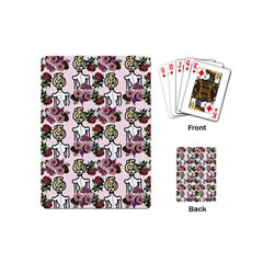 Victorian Girl Pink Playing Cards (mini) by snowwhitegirl