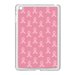 Pink Ribbon   Breast Cancer Awareness Month Apple Ipad Mini Case (white) by Valentinaart