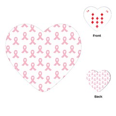 Pink Ribbon - Breast Cancer Awareness Month Playing Cards (heart) by Valentinaart