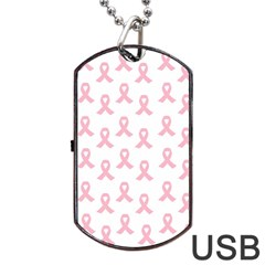 Pink Ribbon - Breast Cancer Awareness Month Dog Tag Usb Flash (two Sides) by Valentinaart