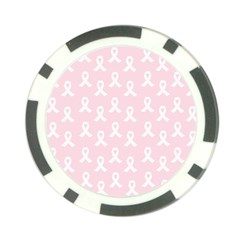 Pink Ribbon   Breast Cancer Awareness Month Poker Chip Card Guard (10 Pack) by Valentinaart