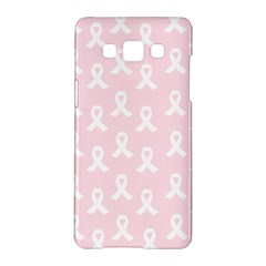 Pink Ribbon   Breast Cancer Awareness Month Samsung Galaxy A5 Hardshell Case  by Valentinaart