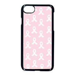Pink Ribbon   Breast Cancer Awareness Month Apple Iphone 7 Seamless Case (black) by Valentinaart
