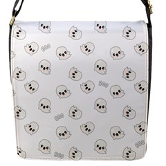 Cute Kawaii Ghost Pattern Flap Closure Messenger Bag (s)
