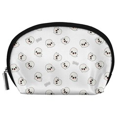 Cute Kawaii Ghost Pattern Accessory Pouch (large)