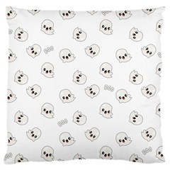 Cute Kawaii Ghost Pattern Large Cushion Case (one Side)