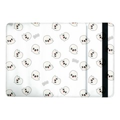 Cute Kawaii Ghost Pattern Samsung Galaxy Tab Pro 10 1  Flip Case