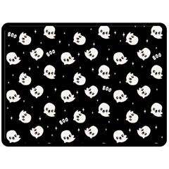 Cute Kawaii Ghost Pattern Fleece Blanket (large)  by Valentinaart