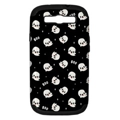Cute Kawaii Ghost Pattern Samsung Galaxy S Iii Hardshell Case (pc+silicone)