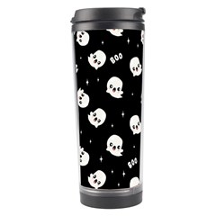 Cute Kawaii Ghost Pattern Travel Tumbler by Valentinaart
