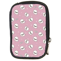 Cute Kawaii Ghost Pattern Compact Camera Leather Case by Valentinaart